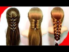 7 Easy Hairstyles for Long Hair Best Hairstyles for Girls - YouTube