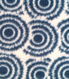 Anti-Pill Fleece Fabric Exploded Circles Blue