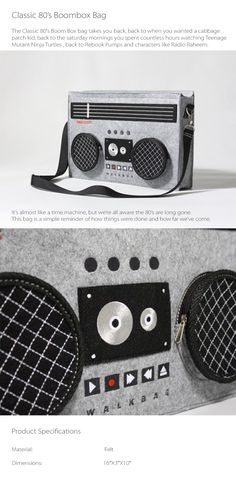 Classic 80's Boombox Bag Takes You Back To The 80s