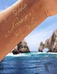 Alpha Gamma Delta - Flash Tattoo by ABD BlockBuy! Just $18 each plus shipping until June 25th. | Adam Block Design | Custom Greek Apparel & Sorority Clothes | www.adamblockdesign.com