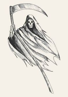 Simple grim reaper drawings sketch illustration of grim reaper architecture salary nyc Scary Drawings, Dark Art Drawings, Halloween Drawings, Pencil Art Drawings, Art Drawings Sketches, Cartoon Drawings, Reaper Drawing, Grim Reaper Art, The Reaper