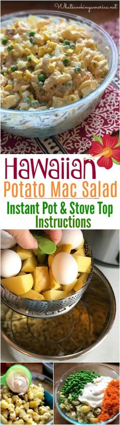 Hawaiian Potato Mac Salad Recipe Potatoes, macaroni noodles and Best Foods Mayonnaise make the perfect plate lunch salad! Potatoes, macaroni noodles and Best Foods Mayonnaise make the perfect plate lunch salad! Hawaiian Potato Mac Salad Recipe, Potato Salad, Plate Lunch, Macaroni Salad, Mayonnaise, Salad Recipes, Pasta Recipes, Instant Pot, A Food