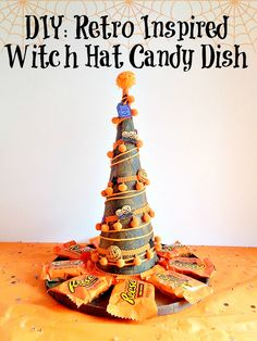 If you need a candy dish this year for Halloween or a centerpiece for your next Halloween party, then you will love my latest project! On the blog, I am showing you how to make your own Retro Inspired Witch Hat Candy Dish. This witch hat candy dish is so easy to make and can fit a good amount of candy. In the project, I am using the Xyron Creative Station Lite, DecoArt Inc. acrylic paint, and some Buttons Galore & More Halloween Buttons. Stop by the blog to get all the details!
