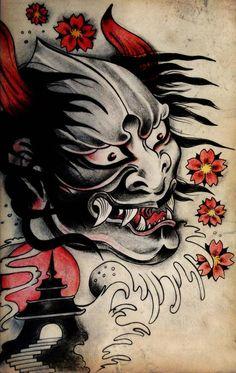 Japanese Demon_Tattoo design by blacksilence92.deviantart.com on @deviantART