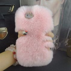 """Fashion Luxury Warm Soft Rabbit Fur Skin Case Cover For Apple iPhone 5 5S 6 4.7"""" 6Plus-in Phone Bags & Cases from Phones & Telecommunications on Aliexpress.com 