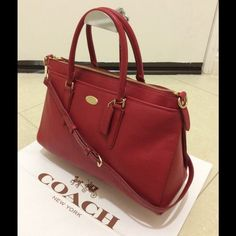 """New Coach Pebble Leather Morgan Satchel CrossBody New With Tag, no dust bag comes with it because out let item. Dimension 14.5"""" X 9.5"""" X 5.5"""". Coach Bags Satchels"""