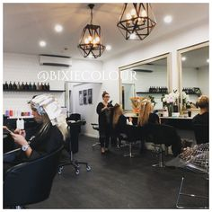 Hair salon interiors at bixie hair colour salon