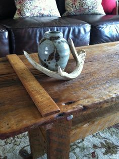 Handmade Antique Salvaged Barn Wood Coffee Table on Etsy, $158.00