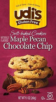 Udi's Gluten Free Soft Baked Cookies, Maple Pecan Chocolate Chip,  Caramel, Other 9.1 Ounce Udi's http://www.amazon.com/dp/B00GXFWUA4/ref=cm_sw_r_pi_dp_BbZnub1HEHA29