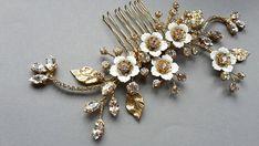 Bridal Headpiece Wedding Hair Piece Rhinestone comb Bridal