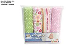 BAMI: Blanket de niña. Receiving blankets