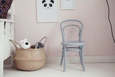 Pastel pink girls room would work equally as well in a nursery