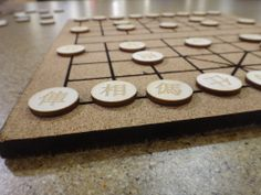 Picture of Laser Cut and Etch a Xiangqi Set - I made it at Techshop