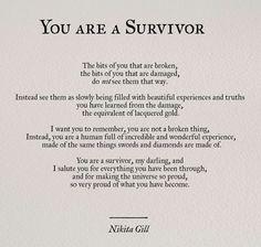 """""""You Are A Survivor"""" by Nikita Gill"""