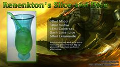 """Renekton's Slice and Dice: """"What? Do I have someone in my teeth? Secret Santa, Lime Juice, Spice Things Up, Lemonade, Vodka, The Creator, Alcohol, Lol, Legends"""