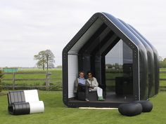 If It's Hip, It's Here: Inflatable Pods Pop Up For Commercial and Residential Use: AirClad Ok, this is the bestest mostest inspirationalest collection Laura Sweet has found in days at least!  Inflatable pop-up dwellings!  What will they think of next?????