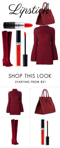 """Untitled #218"" by tini-violetta ❤ liked on Polyvore featuring beauty, Rosetta Getty, Mansur Gavriel, Aquazzura, Christian Dior and MAC Cosmetics"