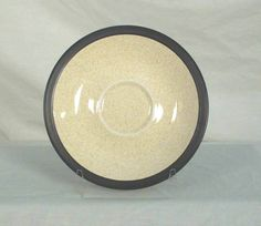Mikasa Japan Terra Stone Vanilla E1955 Dark Brown Saucer bfe2282 #Mikasa
