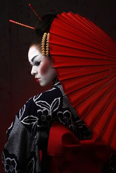 Geisha warrior girl