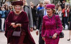 September 23, 2015, Princess Beatrix of The Netherlands and Queen Sonja of Norway attend the opening of the exhibition 'Munch : Van Gogh' at the Van Gogh Museum in Amsterdam, the Netherlands.