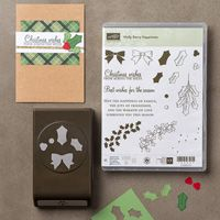 Create beautiful holiday and Christmas handmade cards using the Holly Berry Happiness Photopolymer Bundle