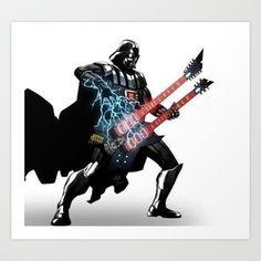 Darth Vader Force Guitar Solo Art Print by qualitypunk - $20.00 http://www.guitarandmusicinstitute.com