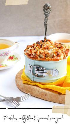 Pindakaas ontbijttaart zonder meel, glutenvrij en koolhydraatarm
