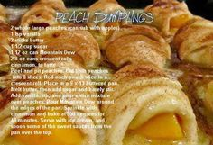 Peach Dumplings with Crescent Rolls and Mountain Dew!