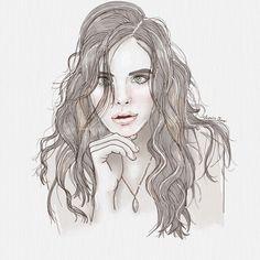 Portrait fashion illustration by verusveteris Fashion Illustrations, Female, Portrait, My Style, Art, Art Background, Kunst, Portrait Illustration, Performing Arts