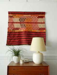 Vintage Hand Woven Tapestry Wall Hanging Textile. Pinned by a Taste Setter. www.thetastesetters.com