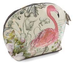 Flamingo On Your Way Makeup Bag.