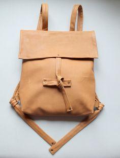 leather backpack by klerovski