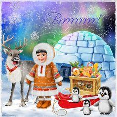 Anntaurus Designs 'Arctic Christmas' Digital Scrapbook Kit.