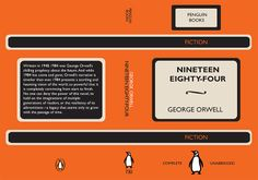 George Orwell's 1984 - Book cover in Vintage Style (Penguin Books) George Orwell 1984 Book, Penguin Books, Come And Go, Fiction Writing, Penguins, Vintage Style, Cover, Ideas, Penguin