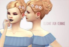 Hello everyone!! So here is the new hair I made :) It's actually an hairstyle I already made but It looks much better and I added some flowers :) I hope you will like it! • BASE GAME COMPATIBLE • 18 ea colors • If you use, please tag me I want to see...