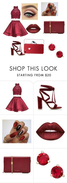 """""""Prom night❤️"""" by alylovefashion ❤ liked on Polyvore featuring Alyce Paris, Gianvito Rossi, Lime Crime, Marc Jacobs and Kate Spade"""