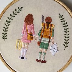Bordado a mão inspirado no filme Moonrise Kingdom (@casabordado) #bordado #embroidery #CasaBordado #moonrisekingdom