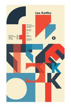Type as image  Music Poster by Alice Zong, via Behance