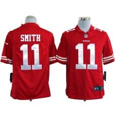 alex smith red jersey red alex smith san francisco 11 2013 super bowl xlvii game c patch nike men je