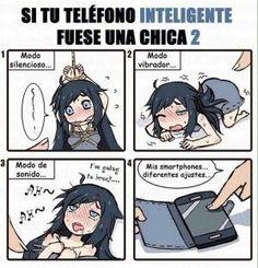 Si tu teléfono inteligente fuera chica #2