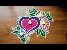 Beautiful ranoli border design for Diwali by DEEPIKA PANT - YouTube