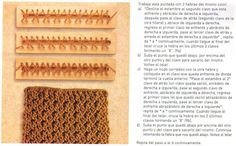 Loom knitting stitches, instructions in Spanish ♥LLK♥ Telar rectangular instruccciones en Español #9