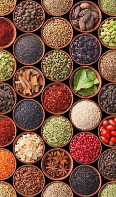 Middle eastern cooking is all about the spices! Here are 9 Mediterranean herbs and spices you MUST add to your pantry! Spice Blends, Spice Mixes, Mediterranean Spices, Aquafaba, Spices And Herbs, Natural Herbs, Kraut, Indian Food Recipes, Kebab Recipes