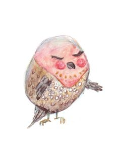 Day 28 : Pink-throated twinspot   Drawing illustration bird