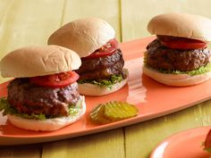 Bacon, Onion and Cheese Stuffed Burger recipe from Sunny Anderson via Food Network