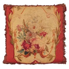 19th Century French Aubusson Pillow