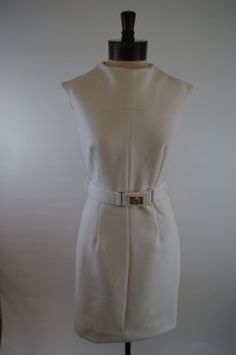 Milly Daphnie Dress - Ecru, Made in the USA