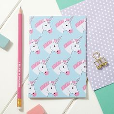 A6 Unicorn Notebook comes from the woodland creatures range. 300gsm cover with a…