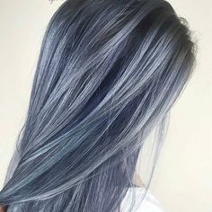 Blue Slate... by @sadiejcre8s #behindthechair #slatehair