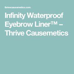 infinity waterproof eyeliner. infinity waterproof eyebrow liner™ \u2013 thrive causemetics eyeliner d